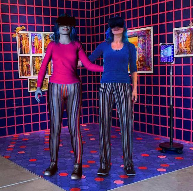 C.A.R.L.A. G.A.N. and Carla Gannis at Telematic Media Arts